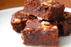 Super-rich gluten free brownies (shh...the secret is black beans!)
