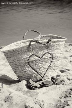 a heart at the beach