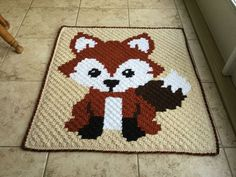 My 10th C2C Crochet Blanket - Mr. Fox himself