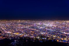 The night view from Mt. Moiwa