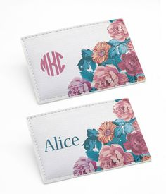 Butterflies /& Stripes Vinyl Passport Holder Personalized