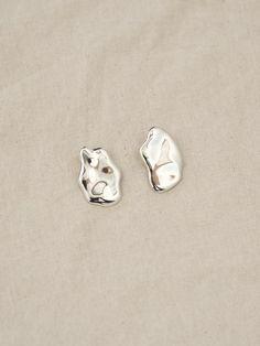 Egg White - Quail Earrings by All Blues