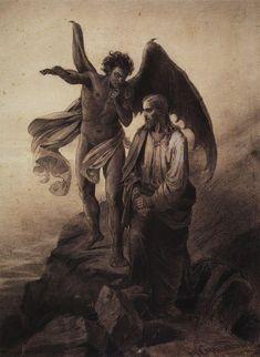 Temptation of Christ - Vasily Surikov - 1872.
