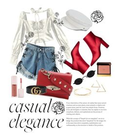 """""""Untitled #30"""" by jovaankaa on Polyvore featuring WithChic, Manokhi, RED Valentino, MANGO, Gucci, Lana Jewelry, Puma and Tom Ford"""