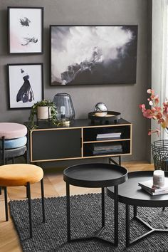 Explore our new living range Set the mood with edgy tones and statement pieces. Home Living Room, Apartment Living, Living Room Decor, Modern Interior Design, Interior Design Living Room, Edgy Bedroom, House Colors, Diy Home Decor, House Design