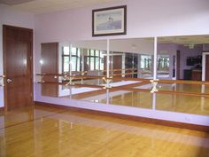 pretty much my second home.....the dance studio Home Ballet Studio, Home Studio, Dream Studio, Ballet Room, Ballet Barre, Playroom Stage, Dance Studio Design, Home Gym Mirrors, Dance Rooms