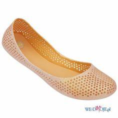 Mel by Melissa - kolekcja wiosna-lato 2014 - złote balerinki #baleriny #buty #shoes #polkipl