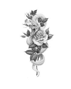 # illust # illustration # masa # 마사 # 타투 # 타투 타투 # tattoo # tatt … - Birds and animals design - tattoos Dope Tattoos, Body Art Tattoos, Sleeve Tattoos, Leg Tattoos, Side Leg Tattoo, Female Tattoos, Tatoos, Temporary Tattoo Designs, Flower Tattoo Designs