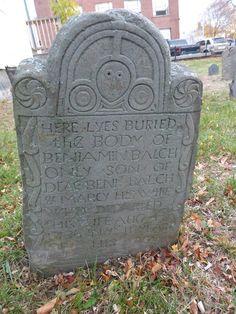 Nutfield Genealogy: Tombstone Tuesday ~ Little 11 Year Old Benjamin Balch, died 1736 in Beverly, Massachusetts #genealogy