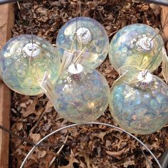 A personal favorite from my Etsy shop https://www.etsy.com/listing/259193687/handmade-glass-ornaments-bubbles-5-pack
