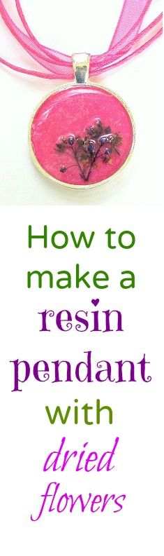 Resin Obsession blog:  How to use dried flowers in your resin jewelry crafts