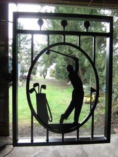 Welded #golf gate. Awesome! https://www.facebook.com/MartySealesMetalArt/