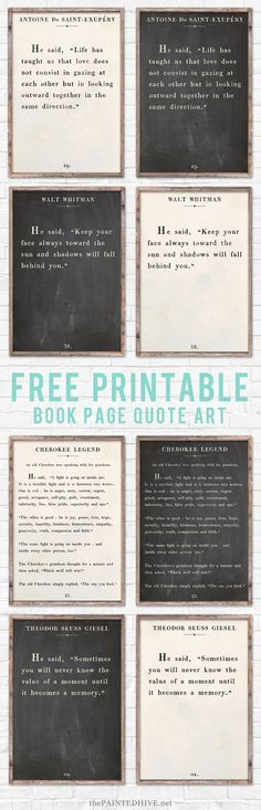 WOW! Eight HUGE free printable farmhouse style signs plus how to print and frame them!