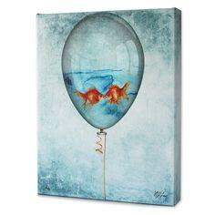 """Kissing Goldfish"" Print by artist Matthew Lew. MatthewLew.com"