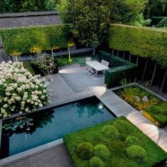 Pinned to Garden Design by BASK Landscape Design. Pinned to Garden Design by BASK Landscape Design. Modern Backyard, Modern Landscaping, Backyard Landscaping, Landscaping Ideas, Backyard Ideas, Modern Pond, Backyard Ponds, Pond Ideas, Landscaping Company