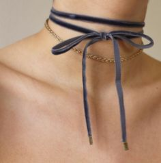 velvet wrap-on choker -tumblr