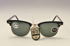 RayBan Clubmaster Vintage Sunglasses Bausch di MarinaVintageItaly, €150.00