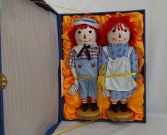 Sterling & Camille Raggedy Ann & Andy Dolls Nutcracker Box Set NIB Gift Bag