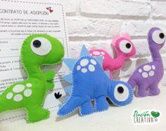 Dinosaurios de fieltro por IlusionCreativa en Etsy