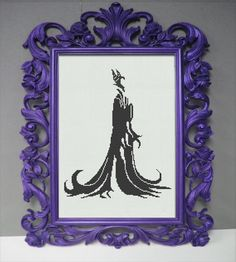 Disney Maleficent Counted Cross Stitch Pattern - Regal Silhouette - Aida Cloth by StunningCrossStitch on Etsy https://www.etsy.com/listing/193327576/disney-maleficent-counted-cross-stitch