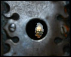 Keyhole Malta's Knights palace, Saint Peter church