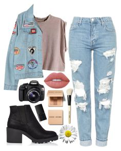 """""""Sin título #213"""" by yenifermelend ❤ liked on Polyvore featuring H&M, Chicnova Fashion, Topshop, River Island, Bobbi Brown Cosmetics, Eos, Lime Crime and NARS Cosmetics"""