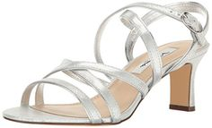 Nina Womens Genaya Dress Sandal FySilver 95 M US -- Click image for more details.-It is an affiliate link to Amazon.