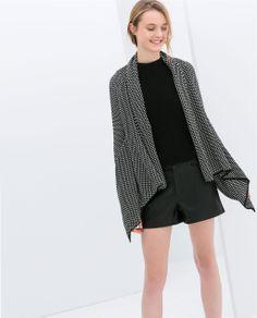 Image 2 of TWO-TONE JACQUARD JACKET from Zara