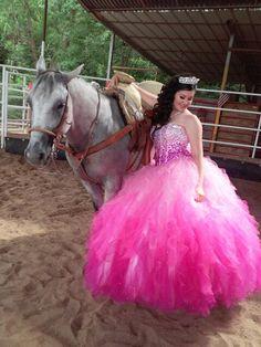 Hera Estrada pre Quinceanera Photos with the Horse.