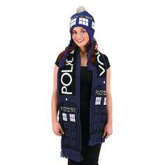 Doctor Who Tardis Scarf - OrientalTrading.com