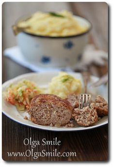 Kotlety mielone Mashed Potatoes, Beef, Dinner, Ethnic Recipes, Food, Smile, Drink, Whipped Potatoes, Meat