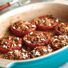 Slow-Roasted Tomatoes with Oregano and Feta #recipe from @Sur La Table #newyearsresolutions #healthy #diet