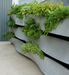SWEEP Planter Wall | SITU Urban Elements. Love the organic forms of this planter system.