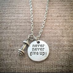 Hey, I found this really awesome Etsy listing at https://www.etsy.com/listing/234424796/gym-inspired-necklace-never-give-up