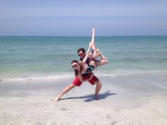 Dancing on the beach, ballroom style!