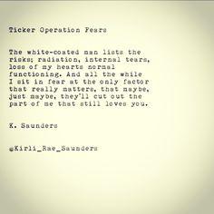 K. saunders #poetry #love #typewriterseries #heart