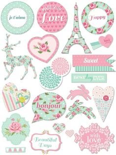 Pastel Sticker Printable Más