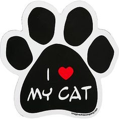 Show everyone how much you adore your cat with the Imagine This I Love My Cat Paw Shaped Car Magnet