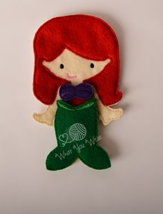 Mermaid felt paper doll, pretend play, quiet play, imaginary play, travel toy, felt non paper doll, by LucyandLyla on Etsy