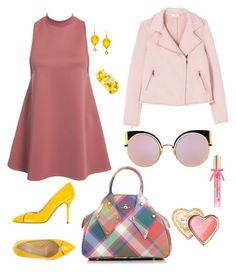 """Outfit 6 F/W"" by bagordocinzia on Polyvore featuring moda, NLY Trend, Charlotte Olympia, Vivienne Westwood, Fendi, Too Faced Cosmetics, Mixit e Victoria's Secret"