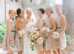 Polka Dot Bridesmaids