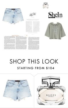 """shein contest"" by zoliy ❤ liked on Polyvore featuring Alexander Wang and Gucci"