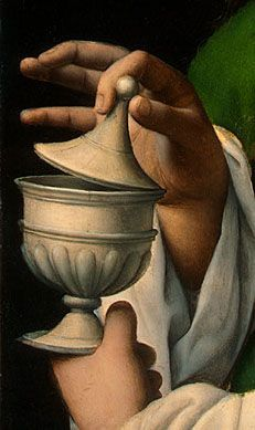Maria Maddalena by Bernardino Luini, 1525 (detail) #hands #fingers #mani #main #rings - Carefully selected by GORGONIA www.gorgonia.it