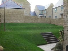 Lovely sloped lawn / grass | Grassroots Landscaping