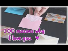 100 Reasons Why I Love You - Make a heartfelt gift for your partner! - YouTube
