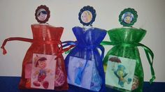12 Pinocchio Birthday Party Favor Bags Stickers Bubbles Goody Blue Fairy #Disney