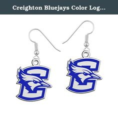 "Creighton Bluejays Color Logo Earrings. We've taken a simple college logo drop earring and added our durable enamel color to enhance the look. Our sterling silver logo earring collection utilizes state of the art manufacturing and high quality solid sterling silver to create the finest collegiate earring anywhere! Spirit with style.....""The indicia featured on this product are protected trademarks owned by the respective college or university.""."