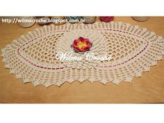 Wilma Crochê: Caminho de mesa em crochê