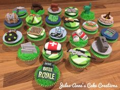 'Fortnite Battle Royale' Game Theme Cupcakes - By Jules-Anne's Cake Creations.