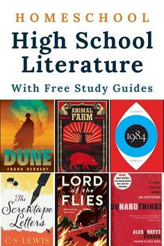 High School Reading, High School Books, High School Literature, Literature Books, American Literature, Homeschool Books, Homeschool High School, Homeschool Curriculum, Study Guides